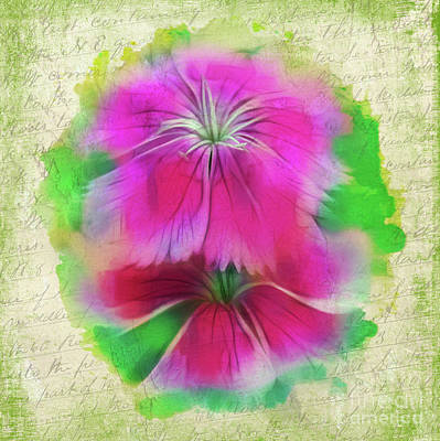 Photograph - Watercolor Flowers by Judi Bagwell