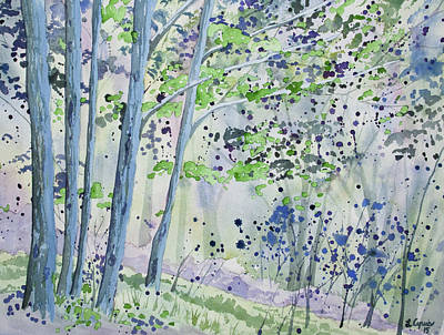 Painting - Watercolor - Forest Awakening by Cascade Colors