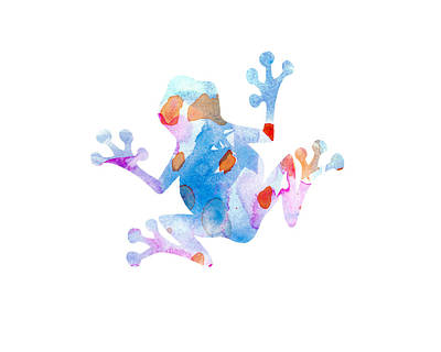 Watercolor Frog Art Print by Nursery Art