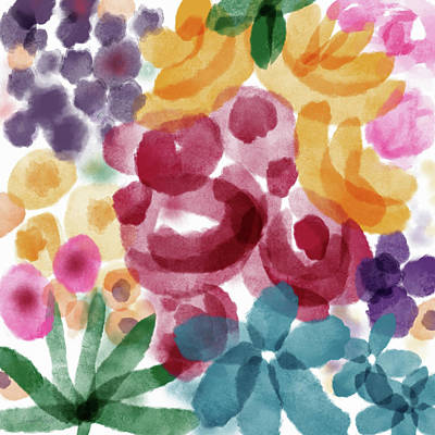 Painting - Watercolor Garden Flowers- Art By Linda Woods by Linda Woods