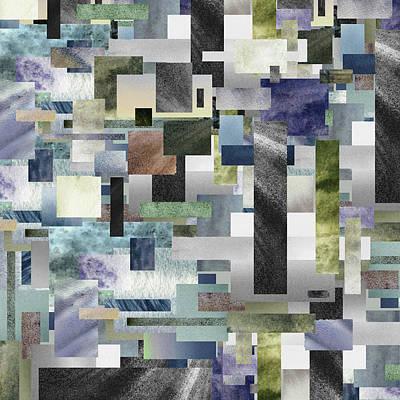 Painting - Watercolor Geometry Abstract Decor I by Irina Sztukowski
