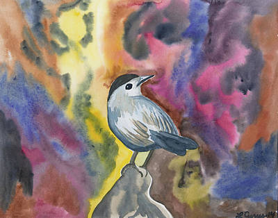 Painting - Watercolor - Gray Catbird by Cascade Colors