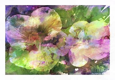 Photograph - Watercolor Hibiscus by Barbara Griffin