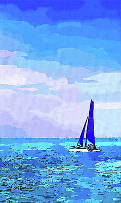 Photograph - Watercolor Hobie Cat by Susan Molnar