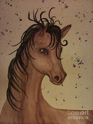Painting - Watercolor Horse by Ginny Youngblood