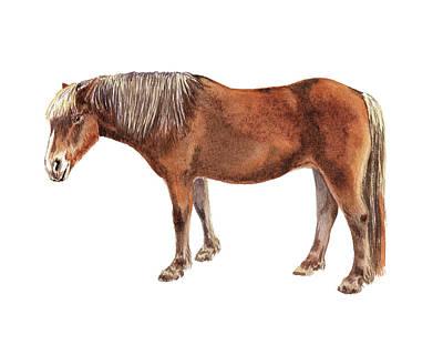 Painting - Watercolor Horse Illustration  by Irina Sztukowski