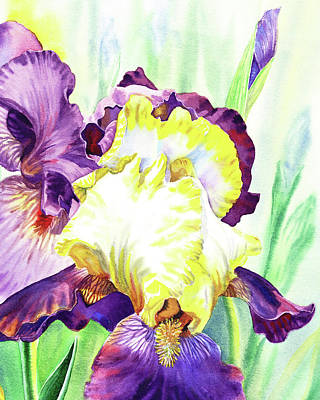 Painting - Watercolor Iris Flower by Irina Sztukowski