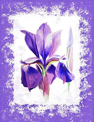 Back Porch Painting - Watercolor Iris Painting by Irina Sztukowski