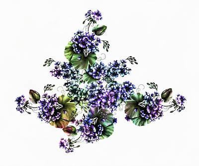 Mixed Media - Watercolor Kissed Geraniums by Georgiana Romanovna
