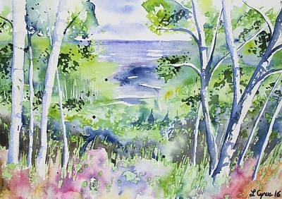 Watercolor - Lake Superior Impression Original by Cascade Colors