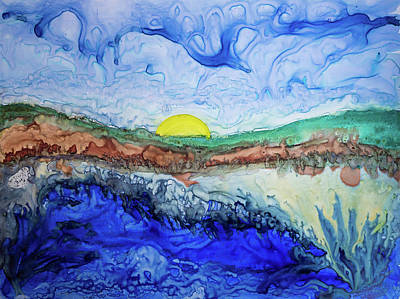 Painting - Watercolor Landscape 4 by Lilia D