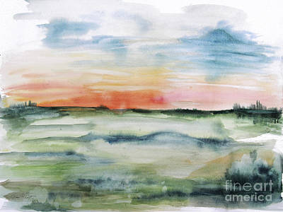 Painting - Watercolor Landscape-a by Jean Plout