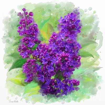 Art Print featuring the painting Watercolor Lilac by Ivana Westin
