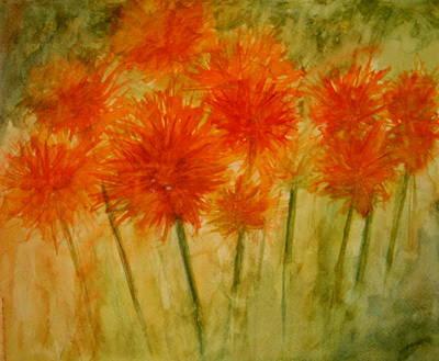 Painting - Watercolor Lollipops by Julie Lueders