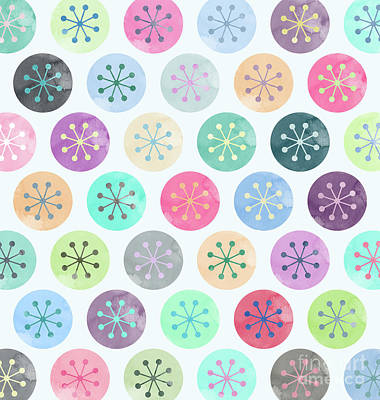 Watercolor Lovely Pattern Art Print by Amir Faysal