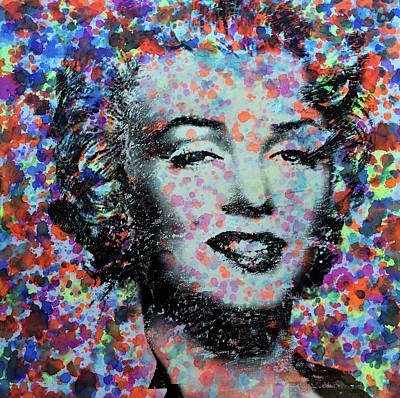 Painting - Watercolor Marilyn by Robert R Splashy Art Abstract Paintings