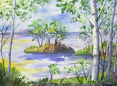 Painting - Watercolor - Minnesota North Shore Landscape by Cascade Colors