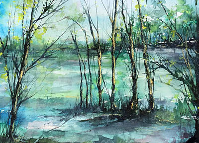 Painting - Watercolor Morning by Robin Miller-Bookhout