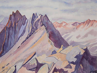 Painting - Watercolor - Near The Top Of Mount Sneffels by Cascade Colors