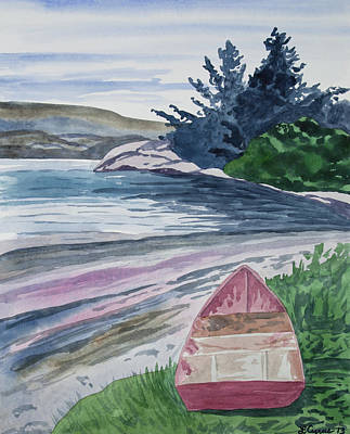 Painting - Watercolor - New Zealand Harbor by Cascade Colors