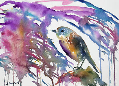 Painting - Watercolor - North Island Robin Impression by Cascade Colors