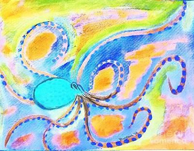 Giant Squid Painting - Watercolor Octopus Painting - Digital Abstract by Scott D Van Osdol