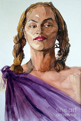 Painting - Portrait In Watercolor Of A Brooklyn Queen by Greta Corens