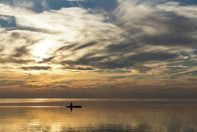 Photograph - Watercolor Paddle - Kayaking Through A Glorious Silken Morning by Georgia Mizuleva