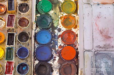 Photograph - Watercolor Paintbox by Dariusz Gudowicz