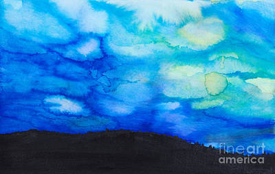 Photograph - Dramatic Sky Watercolor by Tara Thelen