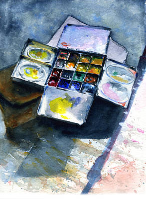 Painting - Watercolor Pallet by John D Benson