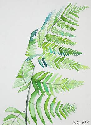 Painting - Watercolor - Palm Frond by Cascade Colors