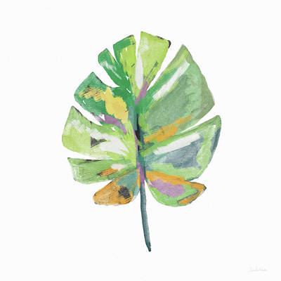 Watercolor Palm Leaf- Art By Linda Woods Art Print by Linda Woods