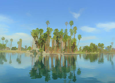 Photograph - Watercolor Palm Tree Reflections by Aimee L Maher Photography and Art Visit ALMGallerydotcom