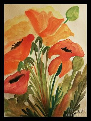 Painting - Watercolor Poppies by Maria Urso
