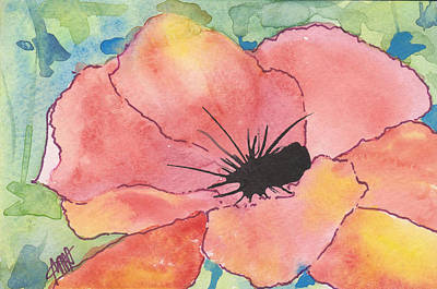 Painting - Watercolor Poppy by Maura Satchell
