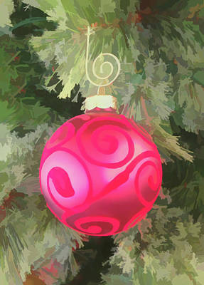 Photograph - Watercolor Redd Christmas Ornament by Aimee L Maher ALM GALLERY