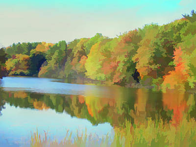 Photograph - Watercolor Reflecting Trees by Aimee L Maher Photography and Art Visit ALMGallerydotcom