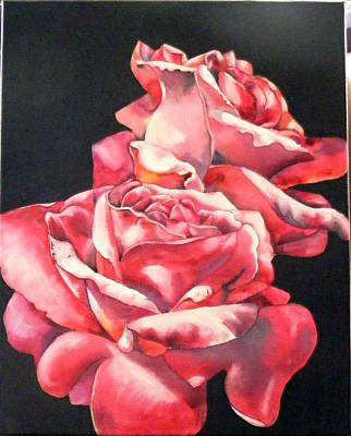 Painting - Watercolor Rose 2 by Diane Ziemski