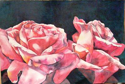 Painting - Watercolor Roses by Diane Ziemski