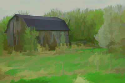 Photograph - Watercolor Rustic Barn by Aimee L Maher Photography and Art Visit ALMGallerydotcom