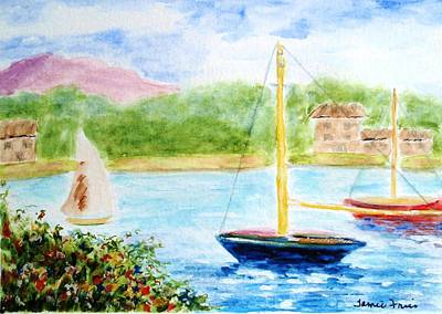 Painting - Watercolor Sail by Jamie Frier