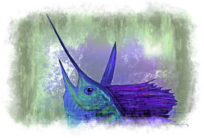 Mahi Mahi Painting - Watercolor Sailfish by Ken Figurski