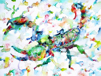 Claw Painting - Watercolor Scorpion by Fabrizio Cassetta
