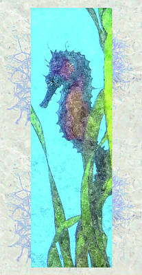 Photograph - Watercolor Seahorse by Susan Molnar