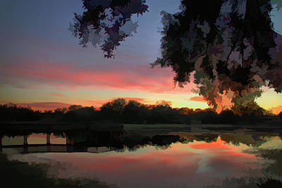 Photograph - Watercolor Serenity Sunset by Aimee L Maher Photography and Art Visit ALMGallerydotcom