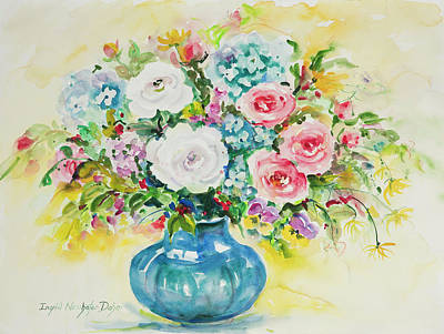 Painting - Watercolor Serie 78 by Ingrid Dohm