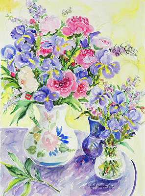 Lady Bug - Watercolor Series 106 by Ingrid Dohm