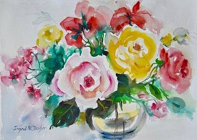 Farm Life Paintings Rob Moline - Watercolor Series 210 by Ingrid Dohm