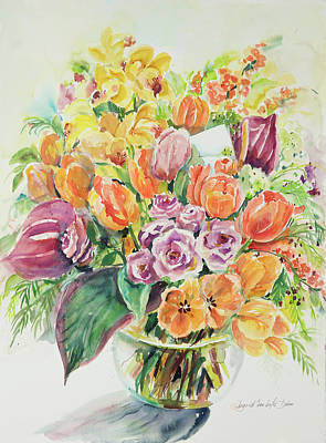Still Life Royalty-Free and Rights-Managed Images - Watercolor Series 37 by Ingrid Dohm